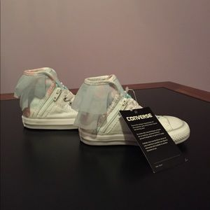 Converse infant girl's tulle high top shoes